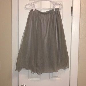 Light grey tulle skirt